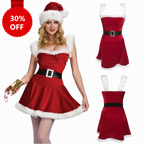 Red Deluxe Jingle Sexy Costume Women Santa Christmas Costume  sc 1 st  Luulla : lady santa costume  - Germanpascual.Com
